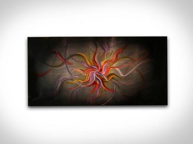 Warm Nebula - our artisan Fine Metal Art