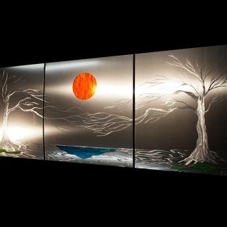 Lavish Coast (v1) Metal Tree Wall Art - our artisan Fine Metal Art