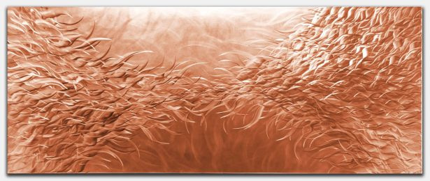 Electric Fields v1 Copper - our artisan Fine Metal Art