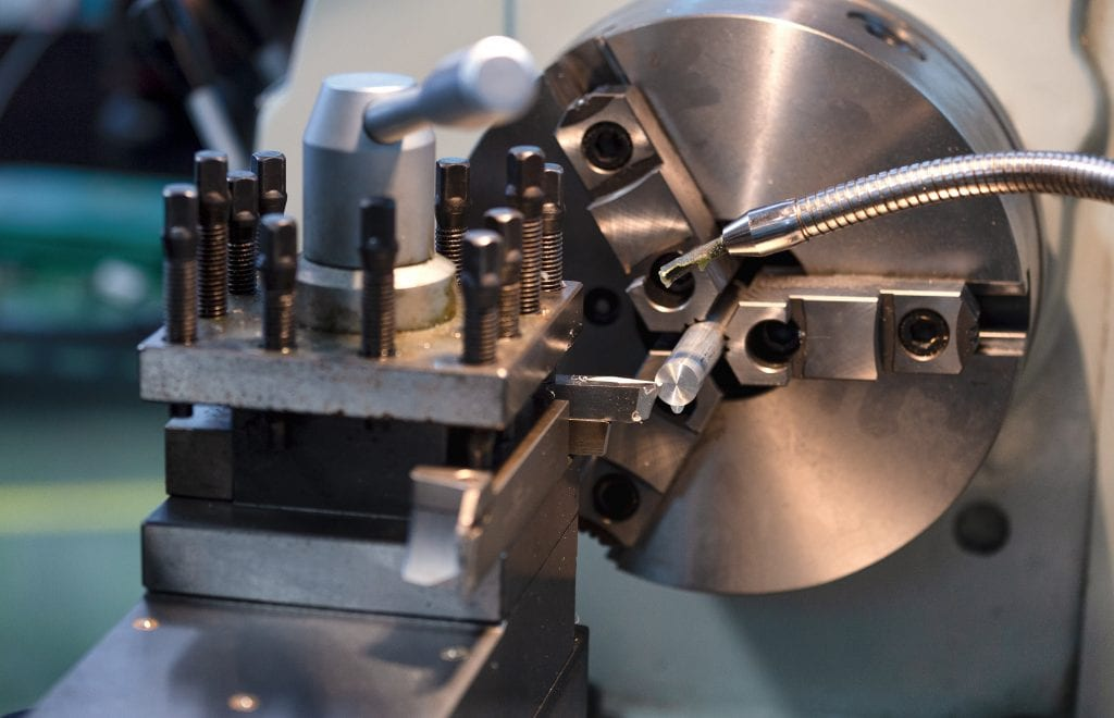 lathe machine in a workshop , Part for equipment in the factory manufacturing metal structures