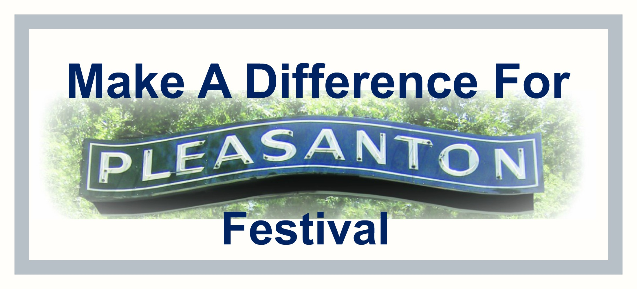 Make A Difference For Pleasanton Logo