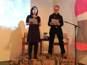Fellow writer Paul and I co-read one of my readings