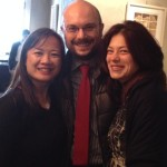 My colleagues from the Rome office:  Luca and Valeria