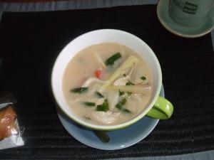 Yummy coconut chicken soup