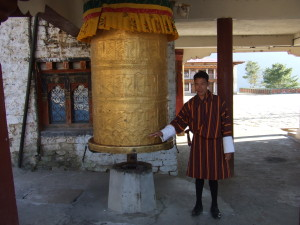 This is the biggest prayer wheel I've ever seen in my life.