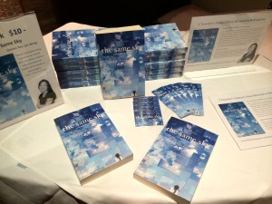 My book for sale at the events