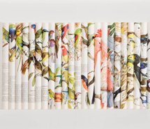 Cacophony, Rip Rack Roar Rumble, 2007, rolled paper, 83 x 58.5 x 6 cm