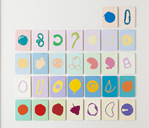 Tide Project, Things to be Forgotten, Australia ii, 2010, hand cut paint swatch cards, 83.3 x 85.5 cm
