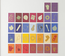 Tide Project, Things to be Forgotten, Spain, 2010, hand cut paint swatch cards, 73.8 x 71.8 cm