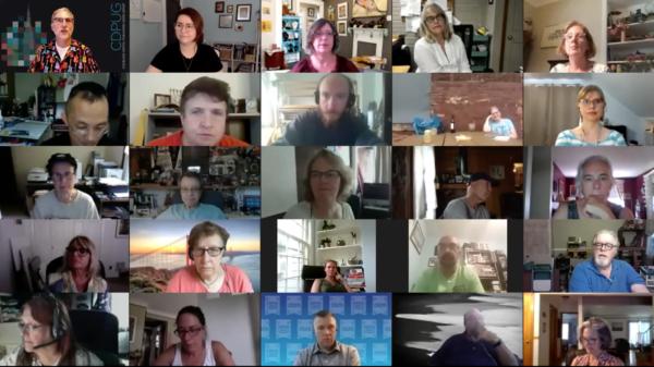 CDPUG July zoom meeting attendees