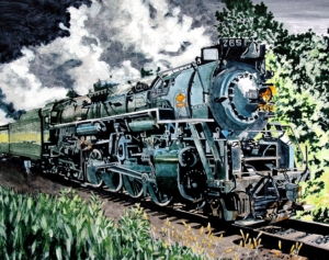 Mike Guyot train illustration
