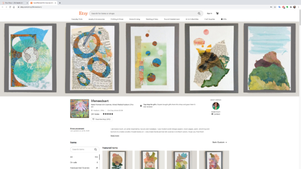 Karen Koch shares her Etsy store