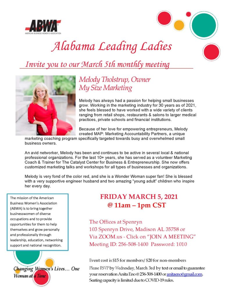 ABWA March 5 Flyer