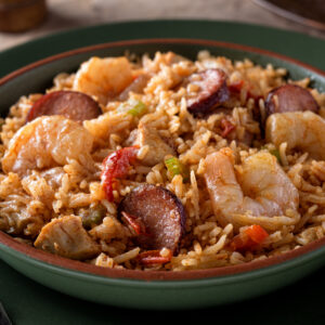 Chicken and Sausage Gumbo with Shrimp