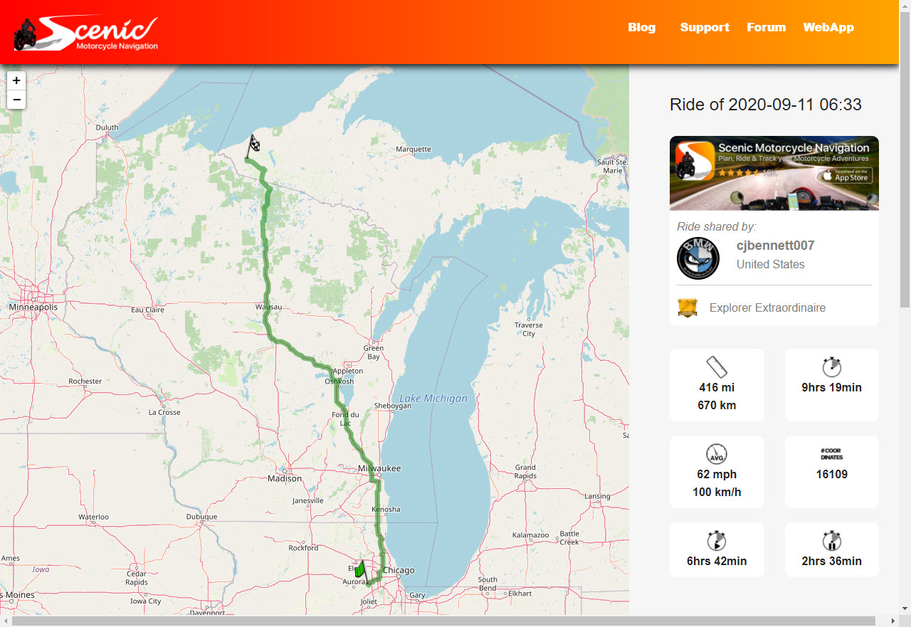 Friday Ride Route To Big Snow in Upper Peninsula Michigan-1