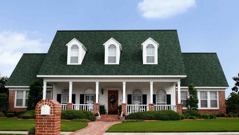 applicaton of green shingles on centennial colorado roofing project