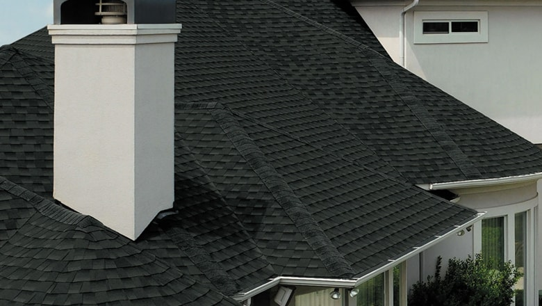 black shingle on highlands ranch home