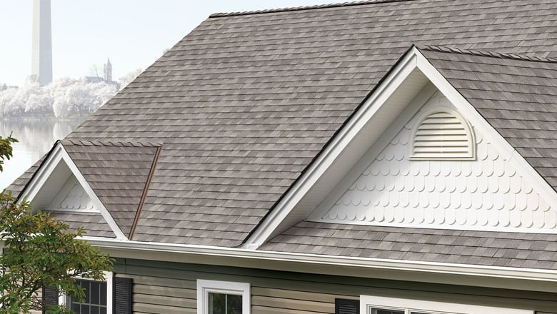 gray roof on centennial dormer