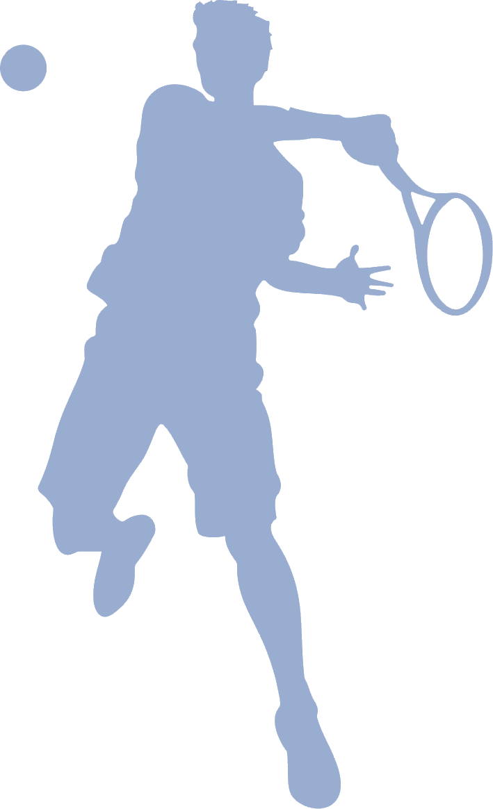 tennis player man sillouette 1