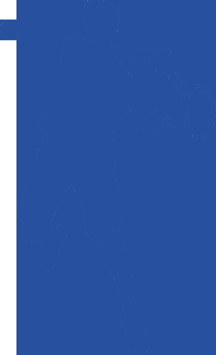 tennis player man sillouette 1