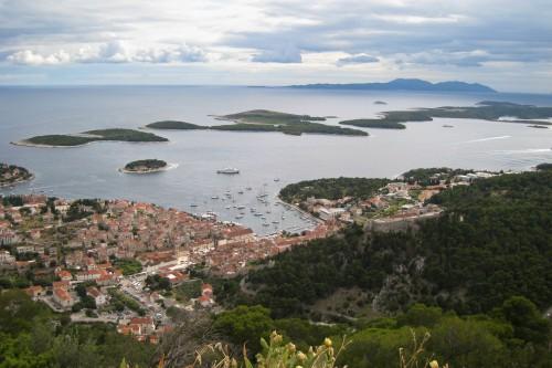 Hvar harbor and the Pakleni Islands