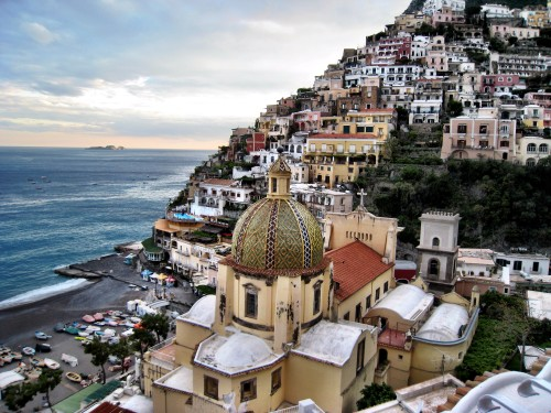 Positano from the terrace at Le Sirenuse hotel