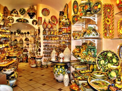 Shopping! At Maria Grazia Ceramics in Positano