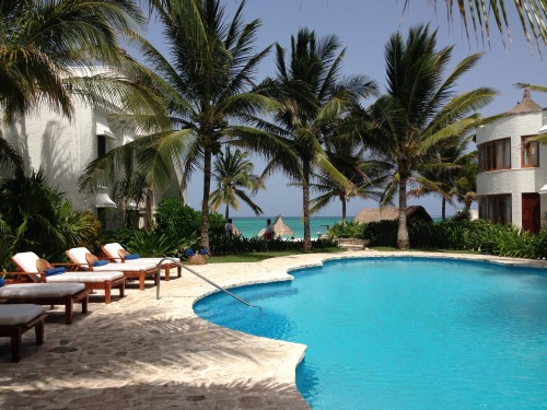 One of several pools at the Belmond Maroma