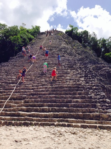 Race to the top of Coba
