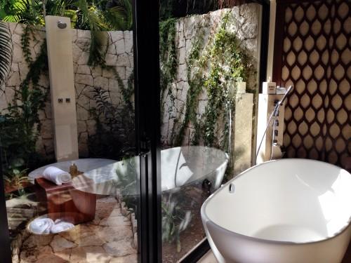 Signature Villa bathtub and outdoor shower