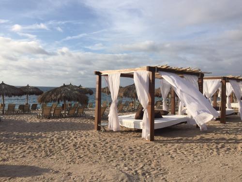 Plenty of places to relax on the beach at Four Seasons Punta Mita