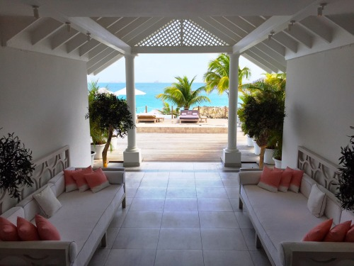 Stunning entrance to the Cheval Blanc St. Barth Isle de France!