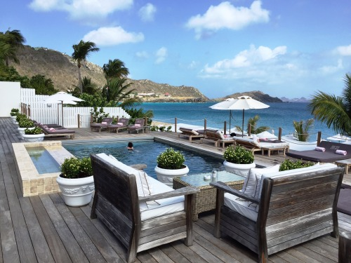 Cheval Blanc pool overlooking Flamands Beach