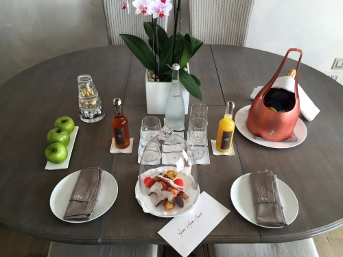 A wonderful welcome to the Cheval Blanc! Merci beaucoup!