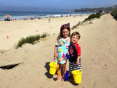 Beach buddies at the Ritz!
