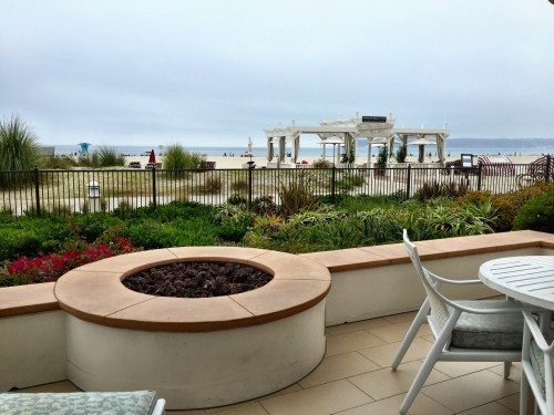 View from a Beach Village room, with fire pit! Can anyone say evening wine and smores?!