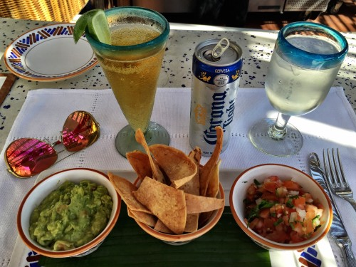 Lunch in Mexico- not more more needed than a cold Corona + guac & chips!