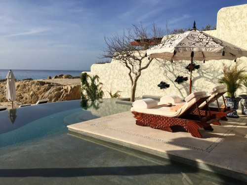 Private pool and outdoor living at one of the new Beachfront Signature Villas