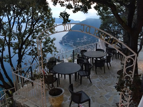 Beautiful terrace at Chevre D'Or