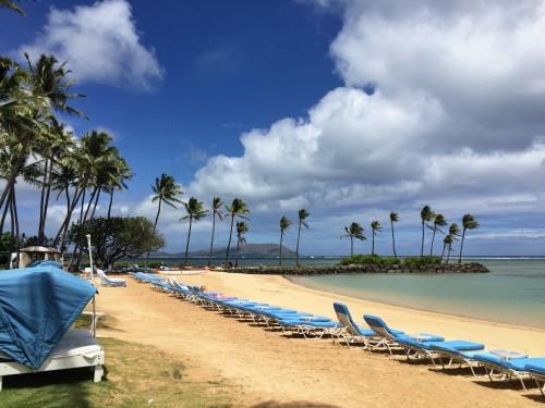 The Kahala Resort, Oahu- beautiful quiet beach