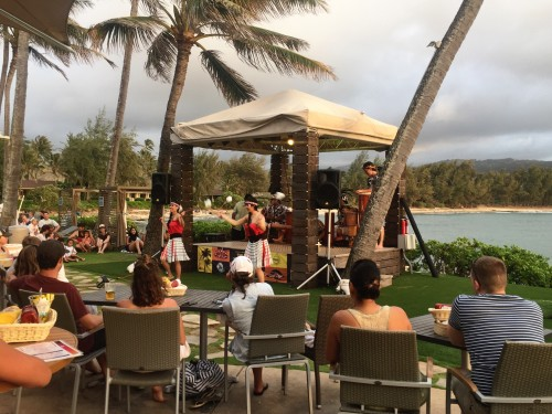 Polynesian show one night at the beach bar