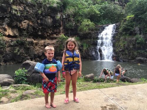 Swimming in Waimea Falls!