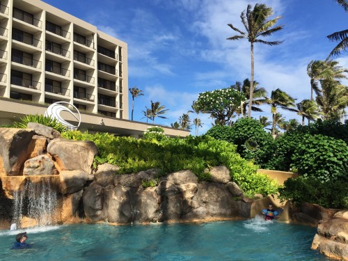 Turtle Bay Resort- pool slide fun!
