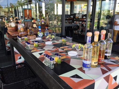 Prettiest tequila tasting setup!!