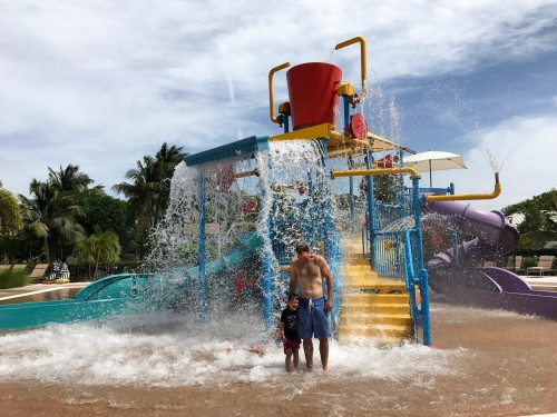 Starfish Cay, the new kids' mini waterpark is SO MUCH FUN! (For adults and kids, as you can see.. haha)