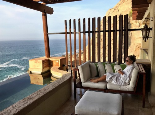 Terrace of our Ocean View Vista room