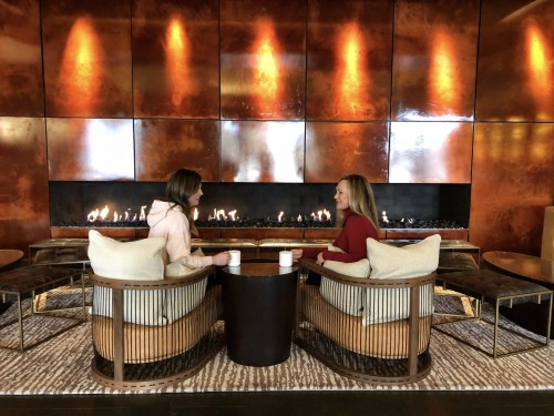Cozy lobby at Viceroy Snowmass