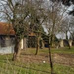 Old walls and barn yard