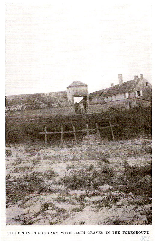 The Croix Rouge Farm with 168th Graves in the Foreground