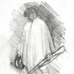 Pencil Drawing Study for Soldier